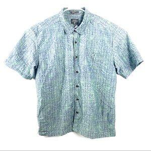 Quiksilver waterman button Down camp shirt 2XL